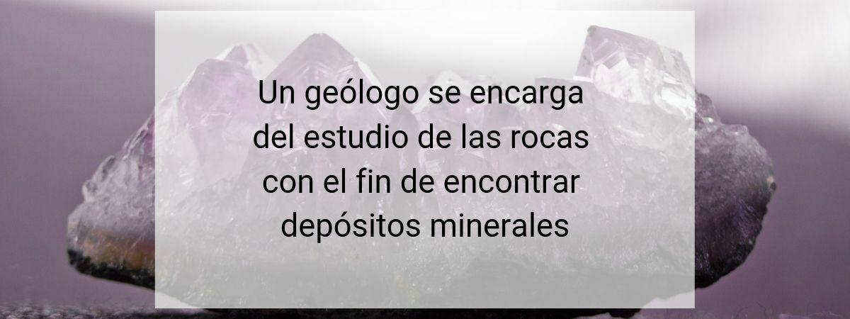 Qué geólogo necesito?
